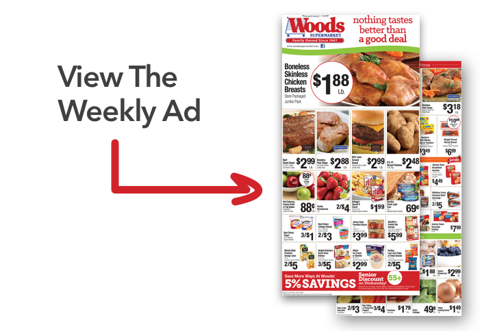 Home Page Link to Woods Weekly Ad