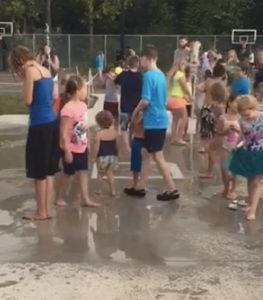 Woods Donates for Bolivar Splash Pad