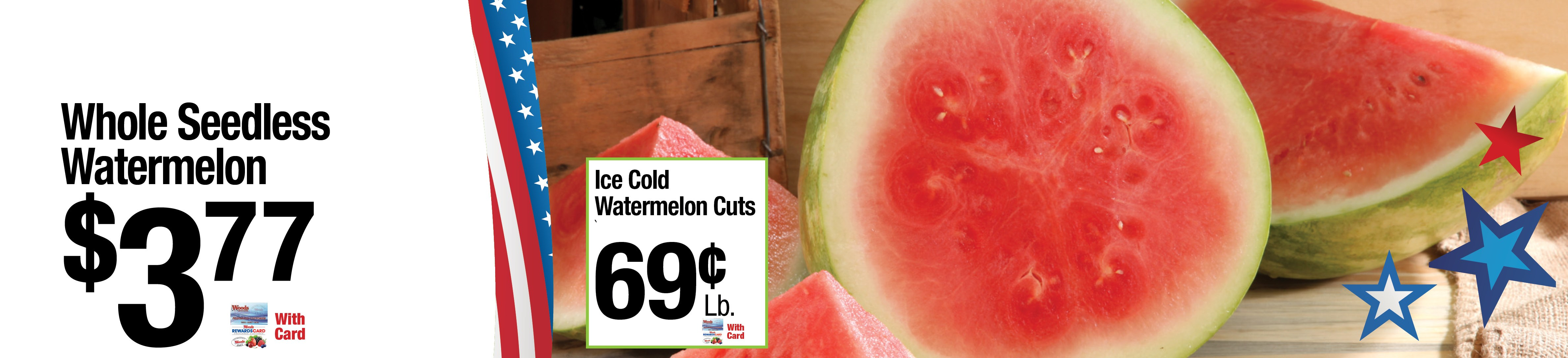 Whole Seedless Watermellon $3.77