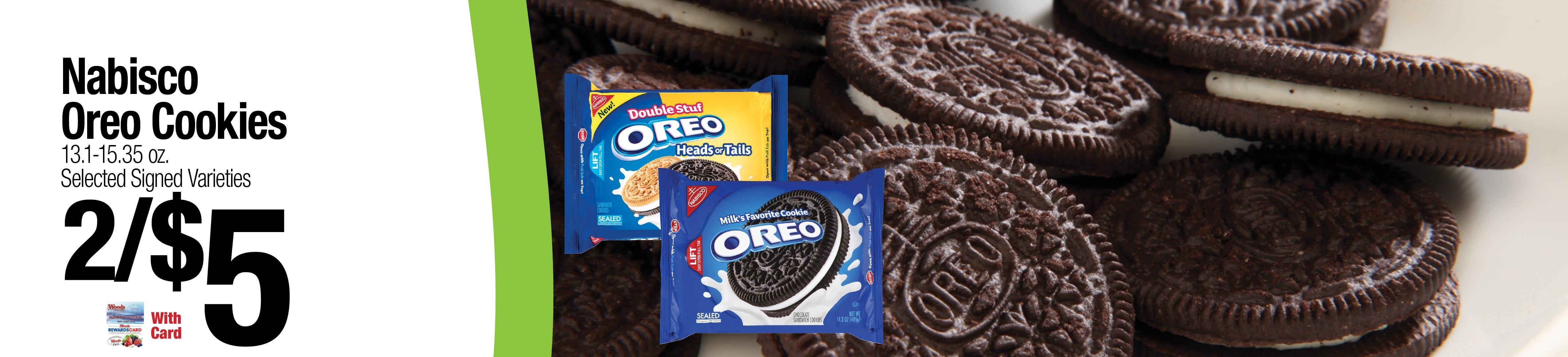 Nabisco Oreo Cookies 2/$5