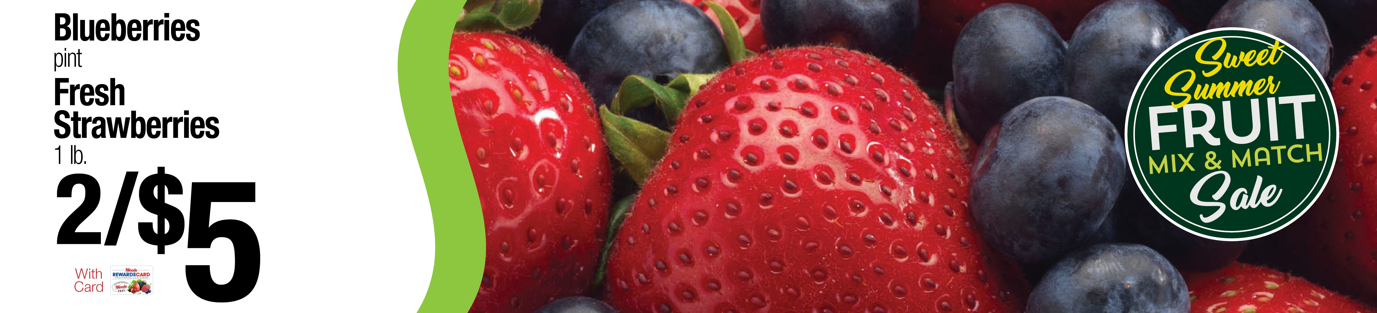 Blueberries and Strawberries Mix And Match