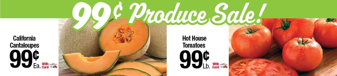 99¢ produce sale