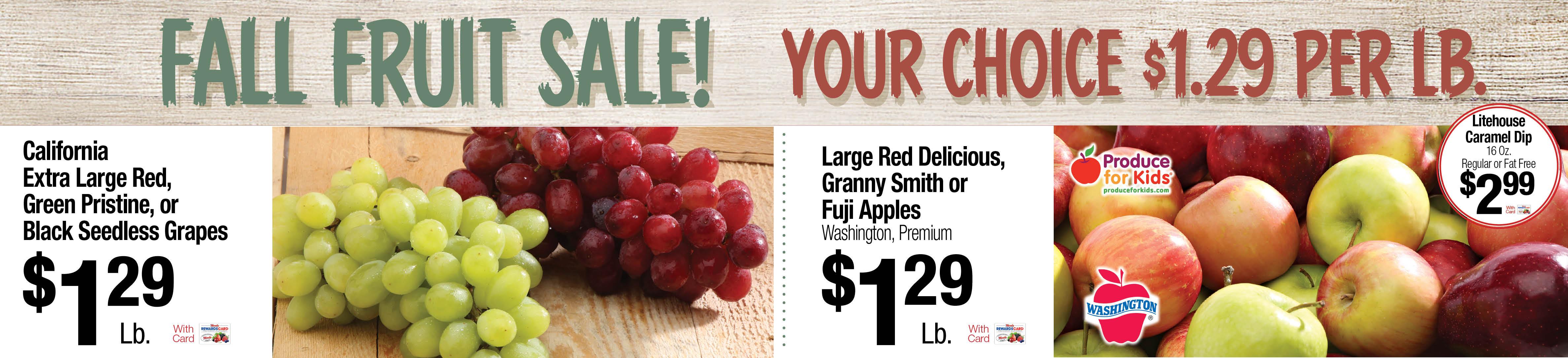 Fall Fruit sale