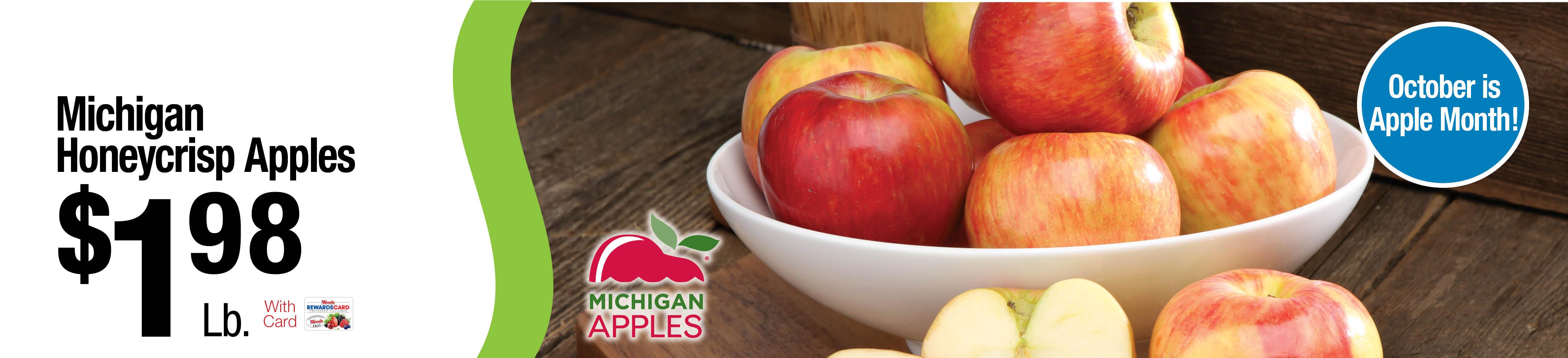 Michigan Honeycrisp Apples $1.98lb