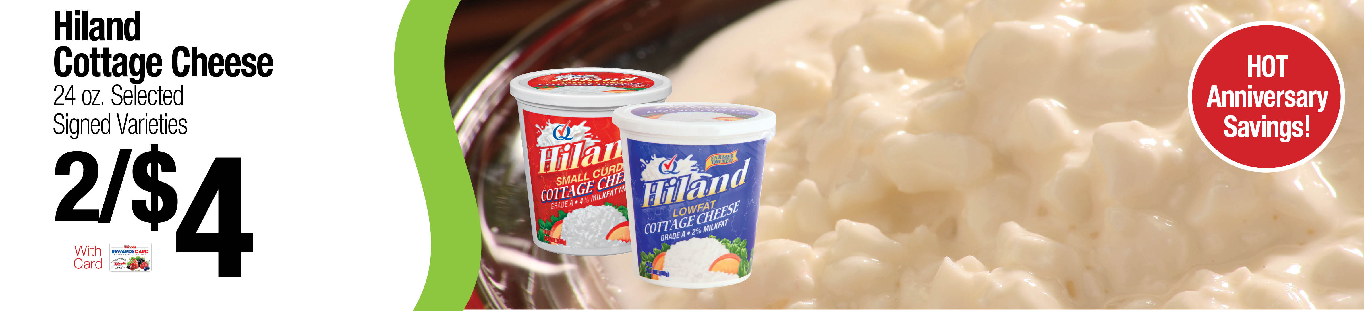 Hiland Cottage Cheese 2/$4