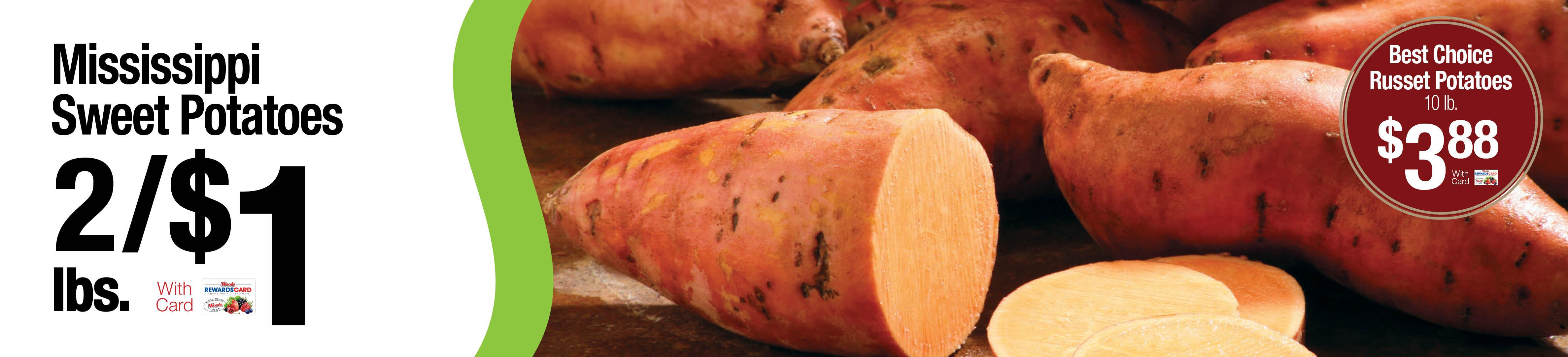 Sweet Potatoes 2 lbs/$1