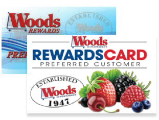 Woods reward cards
