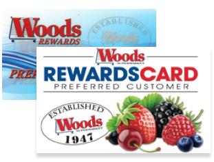 Woods reward cards