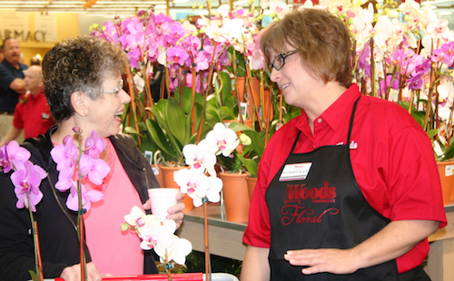 Image of Woods Florist and a Happy Customer