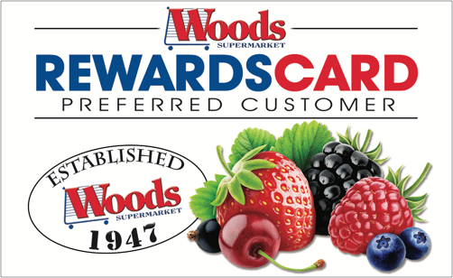Woods Reward Card