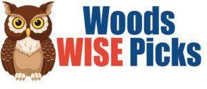 Woods Wise Pick Logo with Owl