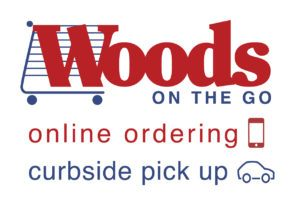 Woods on the go - online shopping and curbside pick up logo