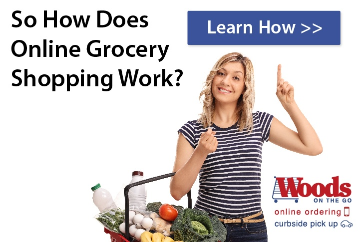 How does online grocery shopping work?