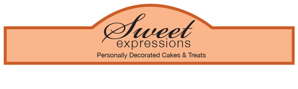 Sweet Expressions Banner - Cake Decoration label