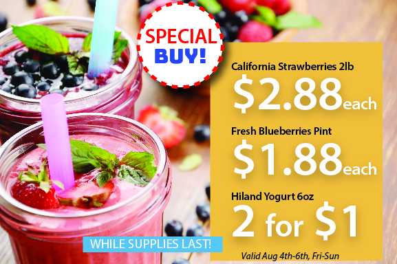 smoothie sale-special grocery buy example