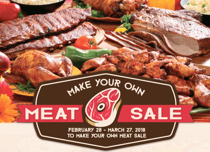 Make Your Own MEat Sale Dates Feb 28 - March 27 2018