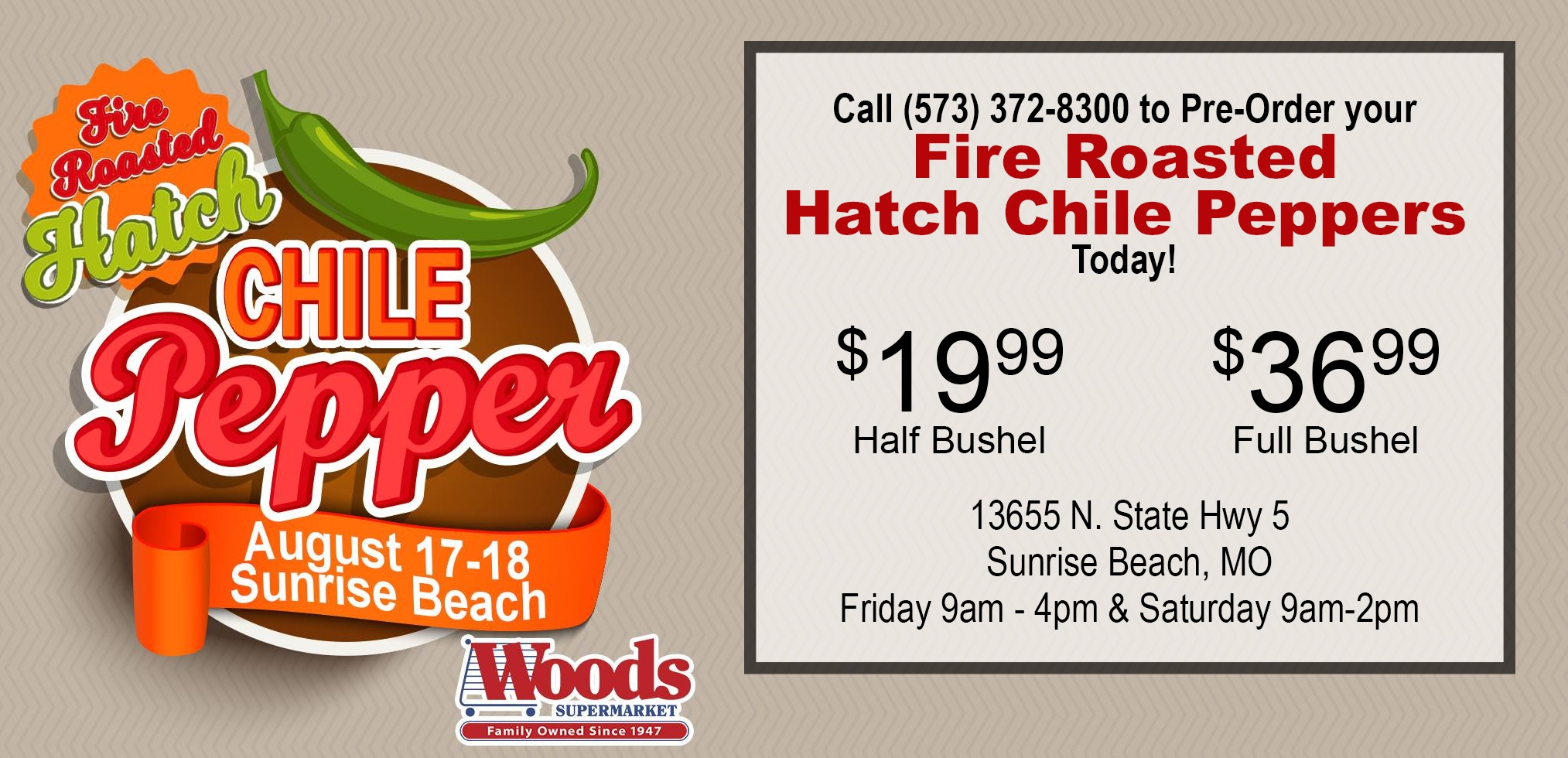 Fire Roasted Hatch Chile Peppers Come To Sunrise Beach Woods